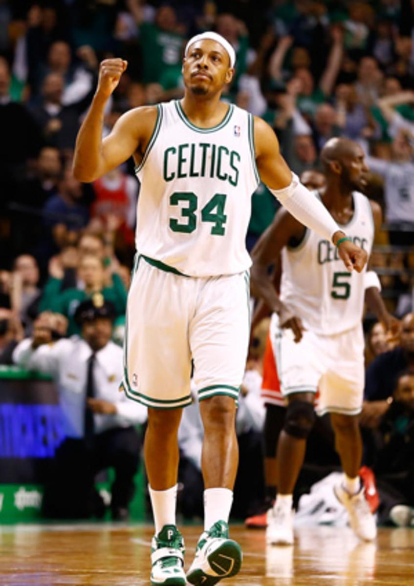 Celtics forward Paul Pierce has found his name in trade rumors. (Jared Wickerham/Getty Images)