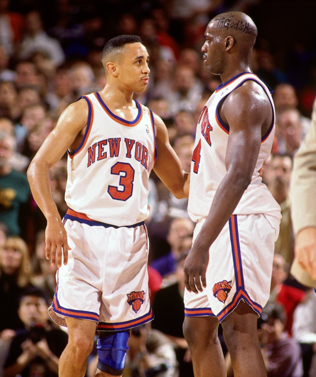 John Starks and Anthony Mason :: Nathaniel S. Butler/Getty Images