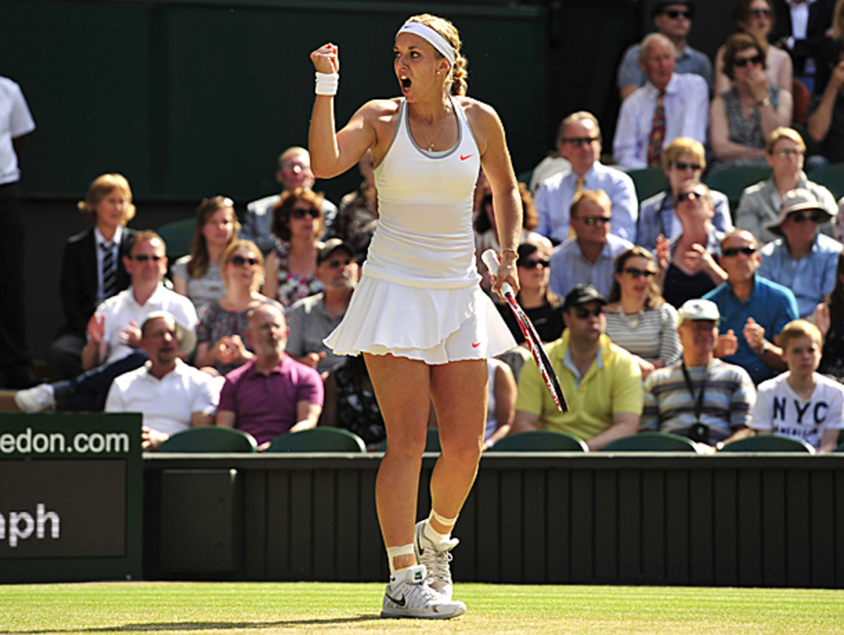 Sabine Lisicki dug back from a 3-0 deficit in the third set to beat Agnieszka Radwanska. (Glyn Kirk/AFP/Getty Images)