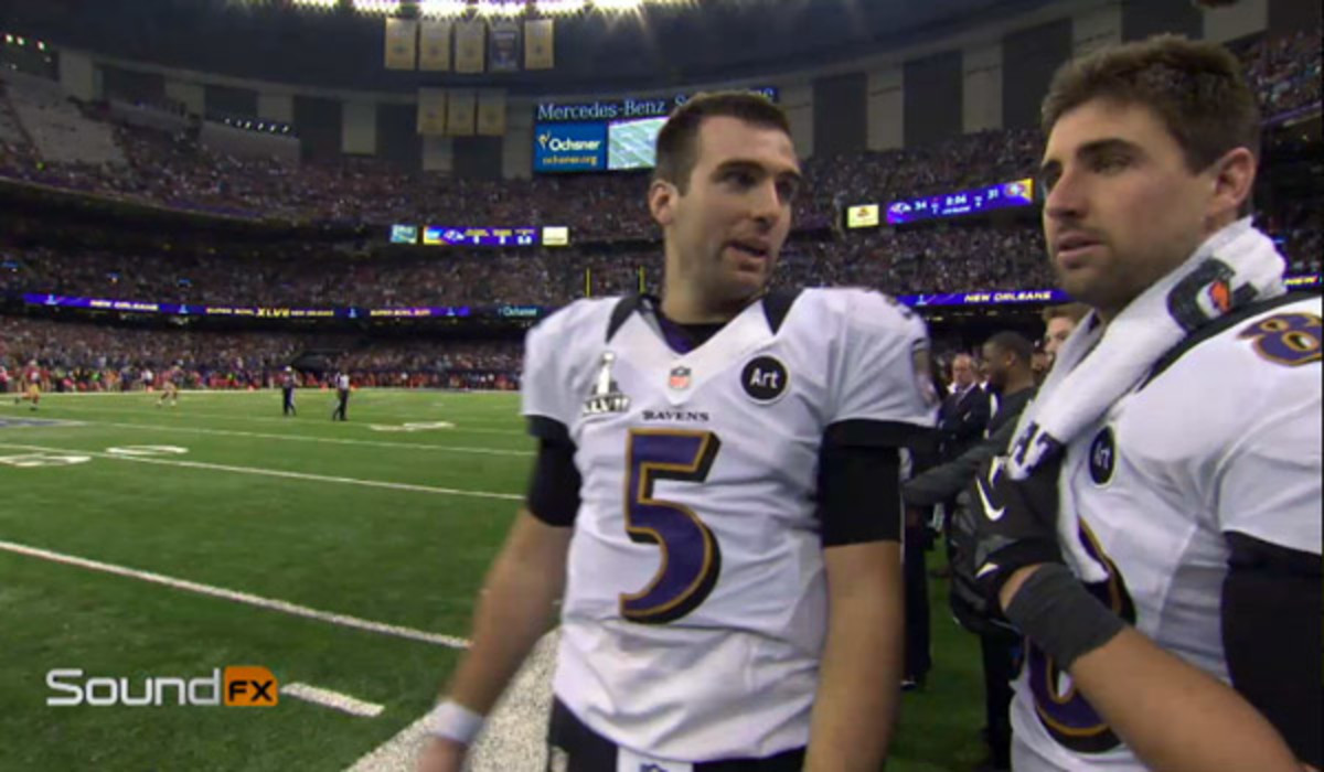 Joe Flacco tied Joe Montana's record for most postseason touchdowns (11) without an interception. (Christian Petersen/Getty Images)