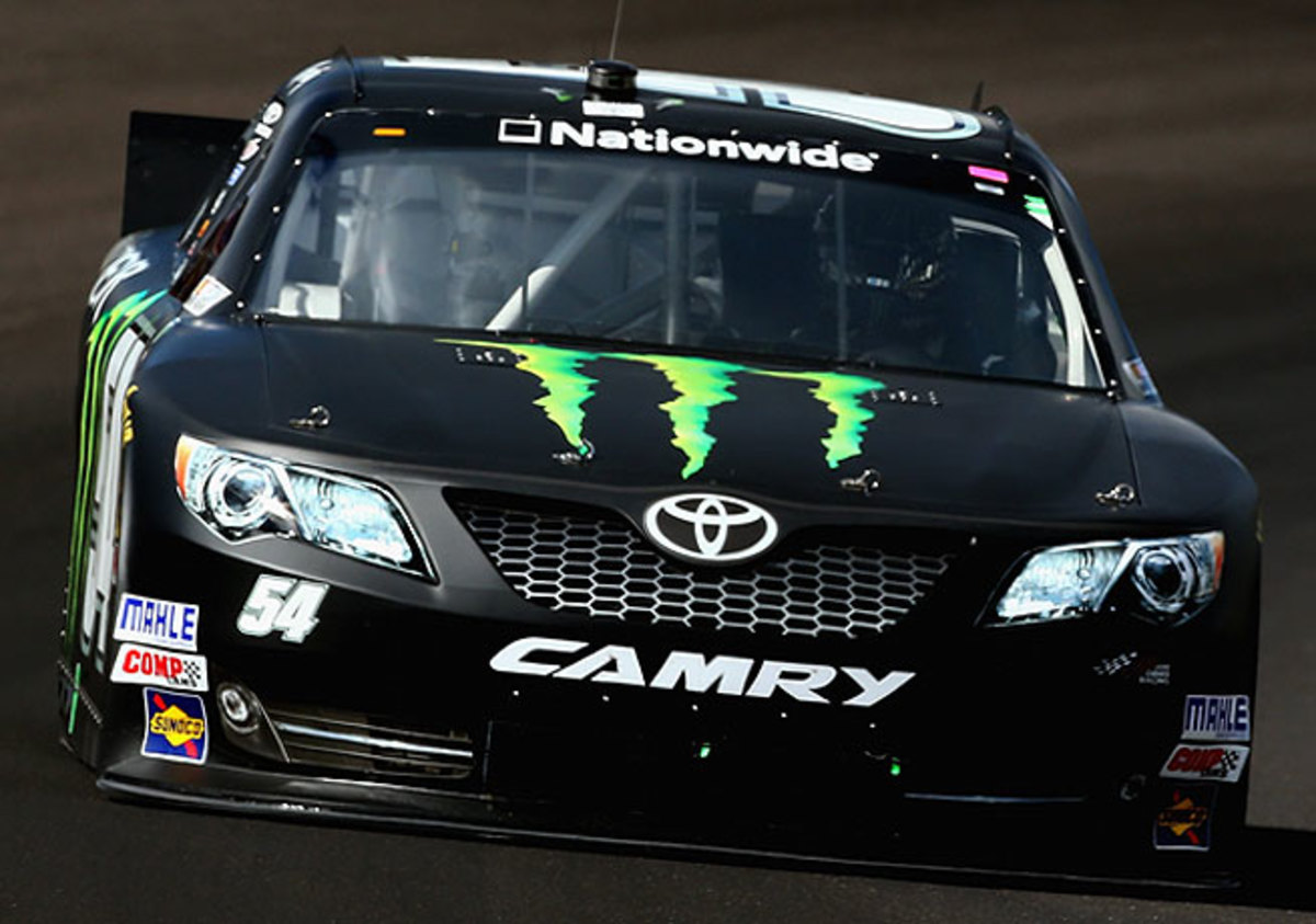 Kyle Busch led for all but eight laps on Saturday during his win at Indianapolis Motor Speedway.