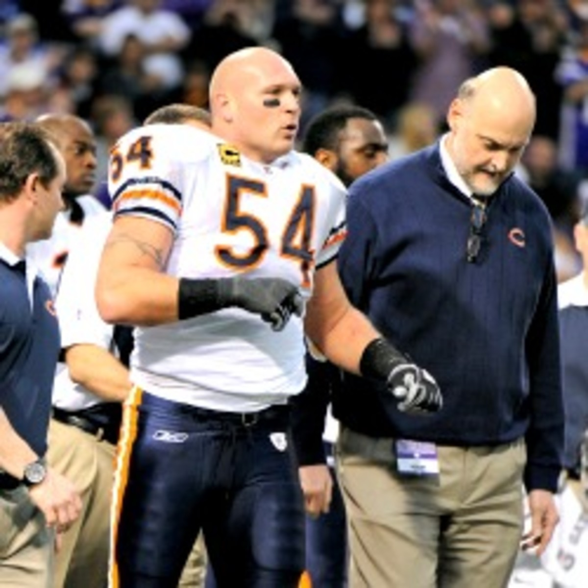 Former Bears linebacker Brian Urlacher said he thinks the Bears never really wanted him back. (Hannah Foslien/Getty Images)