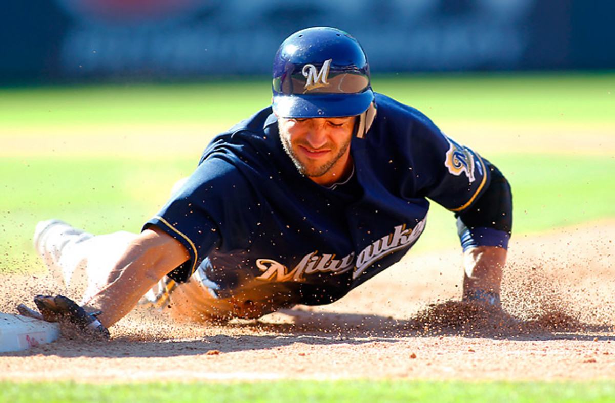 Brewers outfielder Ryan Braun could be the first player selected in many fantasy baseball drafts.