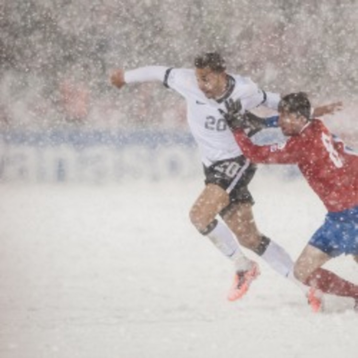 Costa Rica will reportedly protest a 1-0 loss to the U.S. because of a snowstorm. (Dustin Bradford/Getty Images)