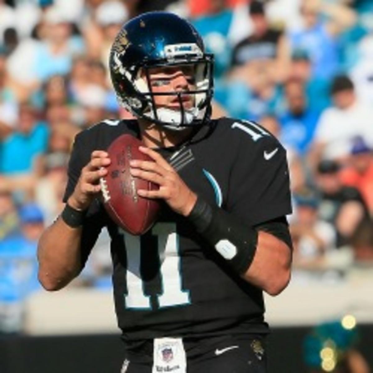 Jaguars quarterback Blaine Gabbert doesn't think the criticism of him is fair. (Sam Greenwood/Getty Images)