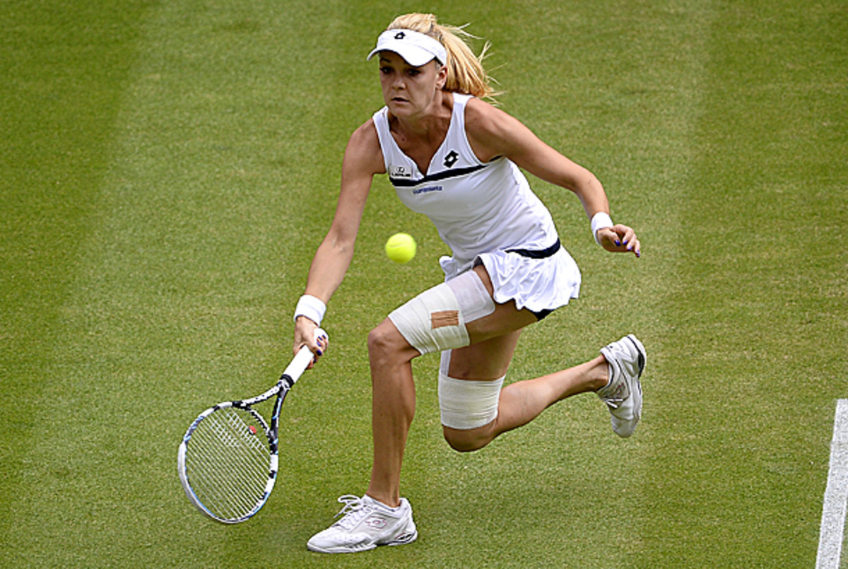 Radwanska is playing in her fourth-straight three-set match. (Dennis Grombkowski/Getty Images)