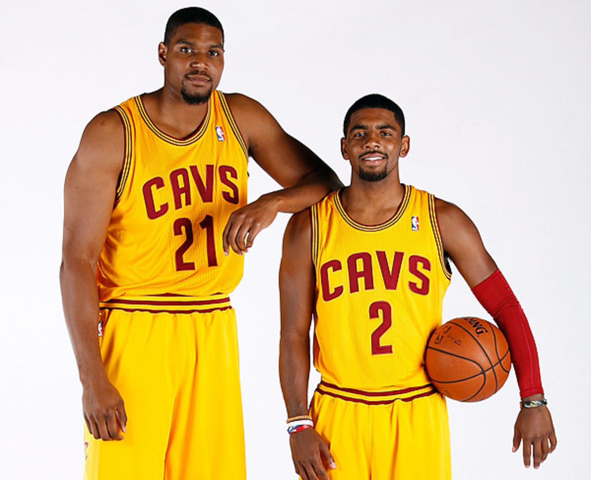 Andrew Bynum and Kyrie Irving