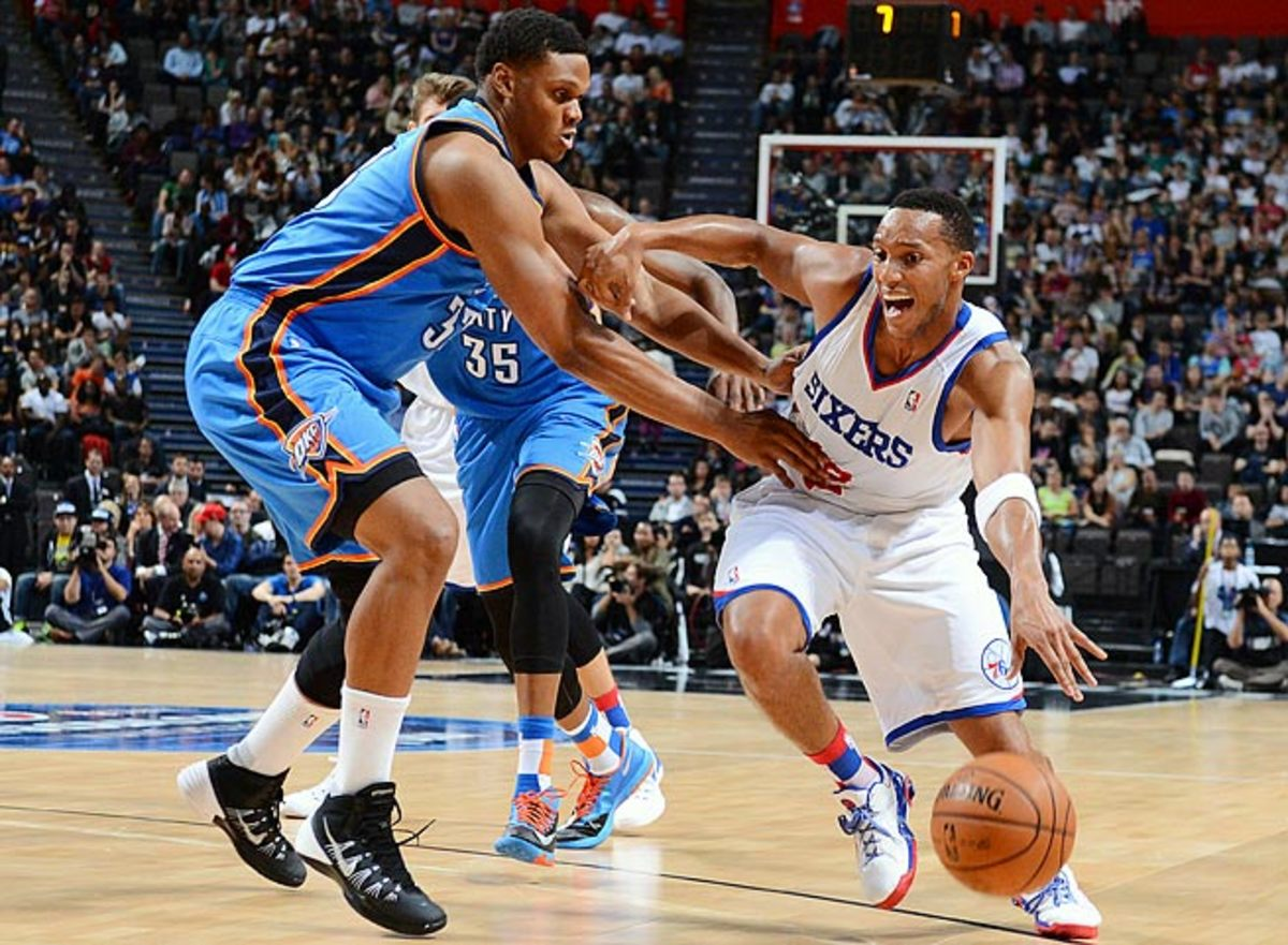 Swingman Evan Turner (right) is the Sixers' second-leading returning scorer at 13.3 points a game.