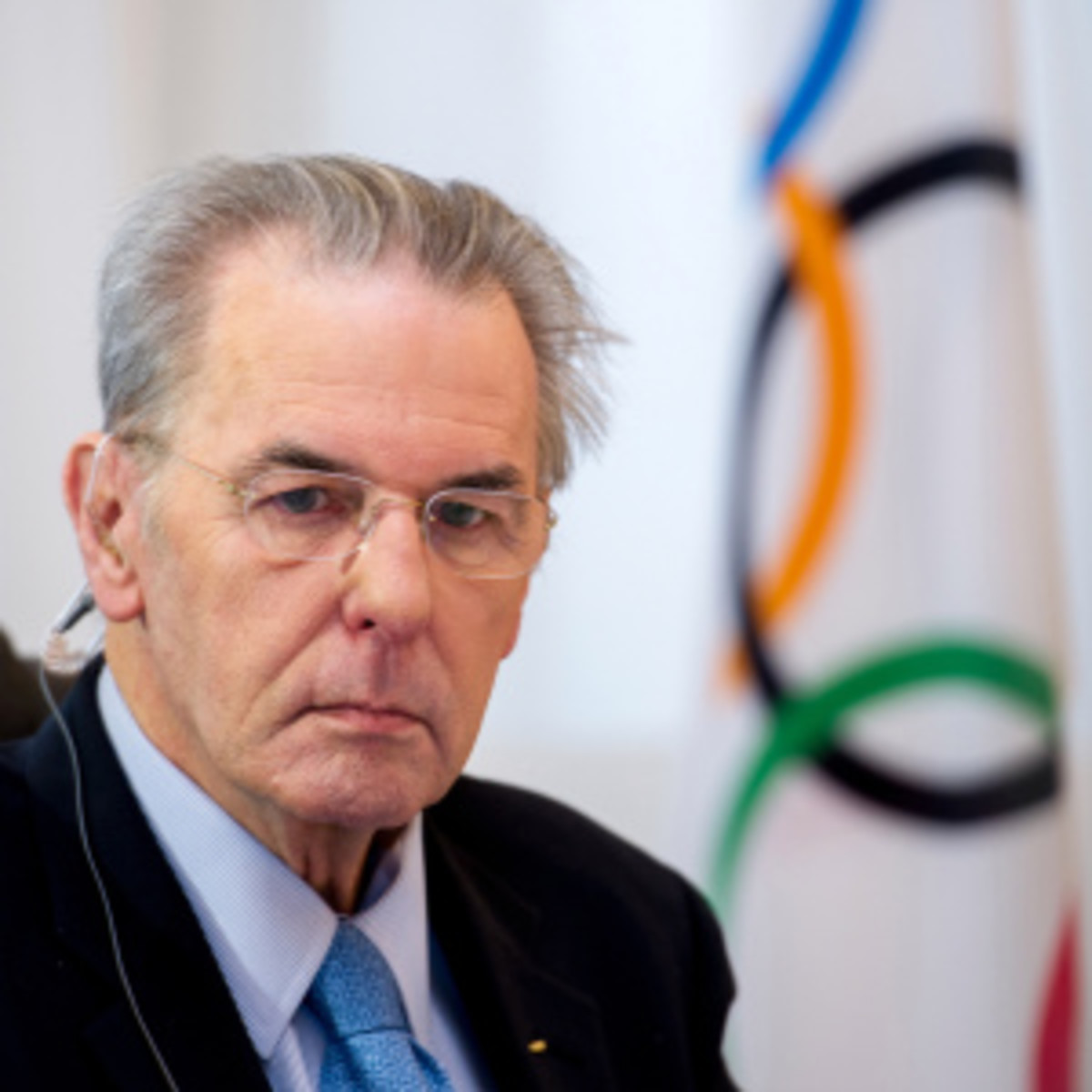 Jacques Rogge will meet with wrestling officials to discuss ways to keep the sport in the Olympics. (Harold Cunningham/Getty Images)