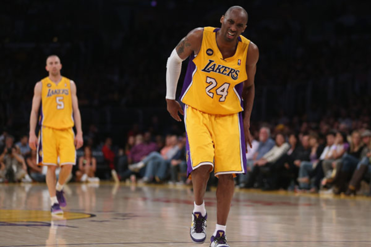 Kobe Bryant has been sidelined with an Achilles injury since last April. (Jeff Gross/Getty Images)