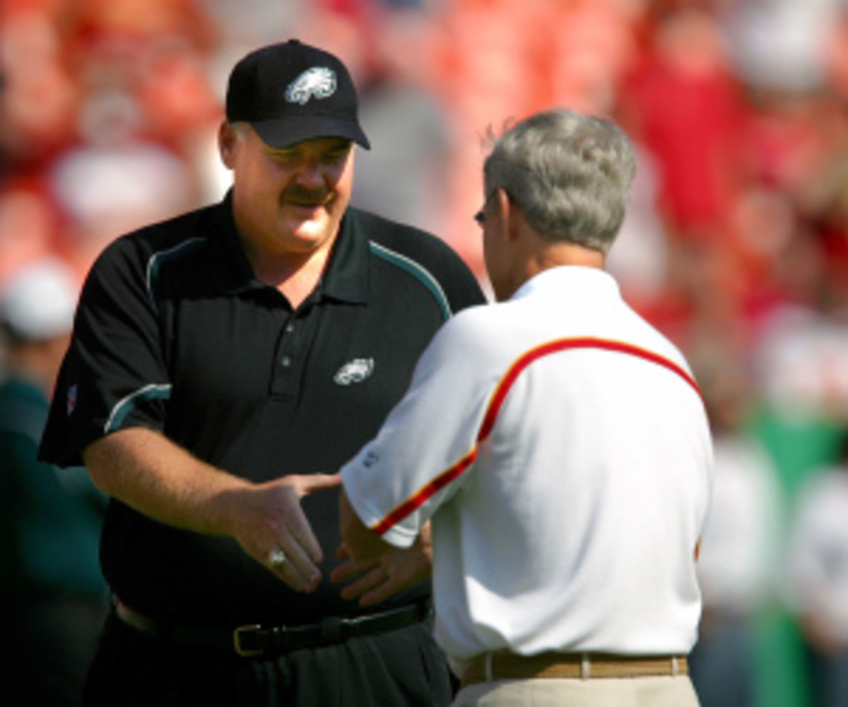 The Chiefs are reportedly the frontrunners to land Andy Reid. (Jamie Squire/Getty Images)