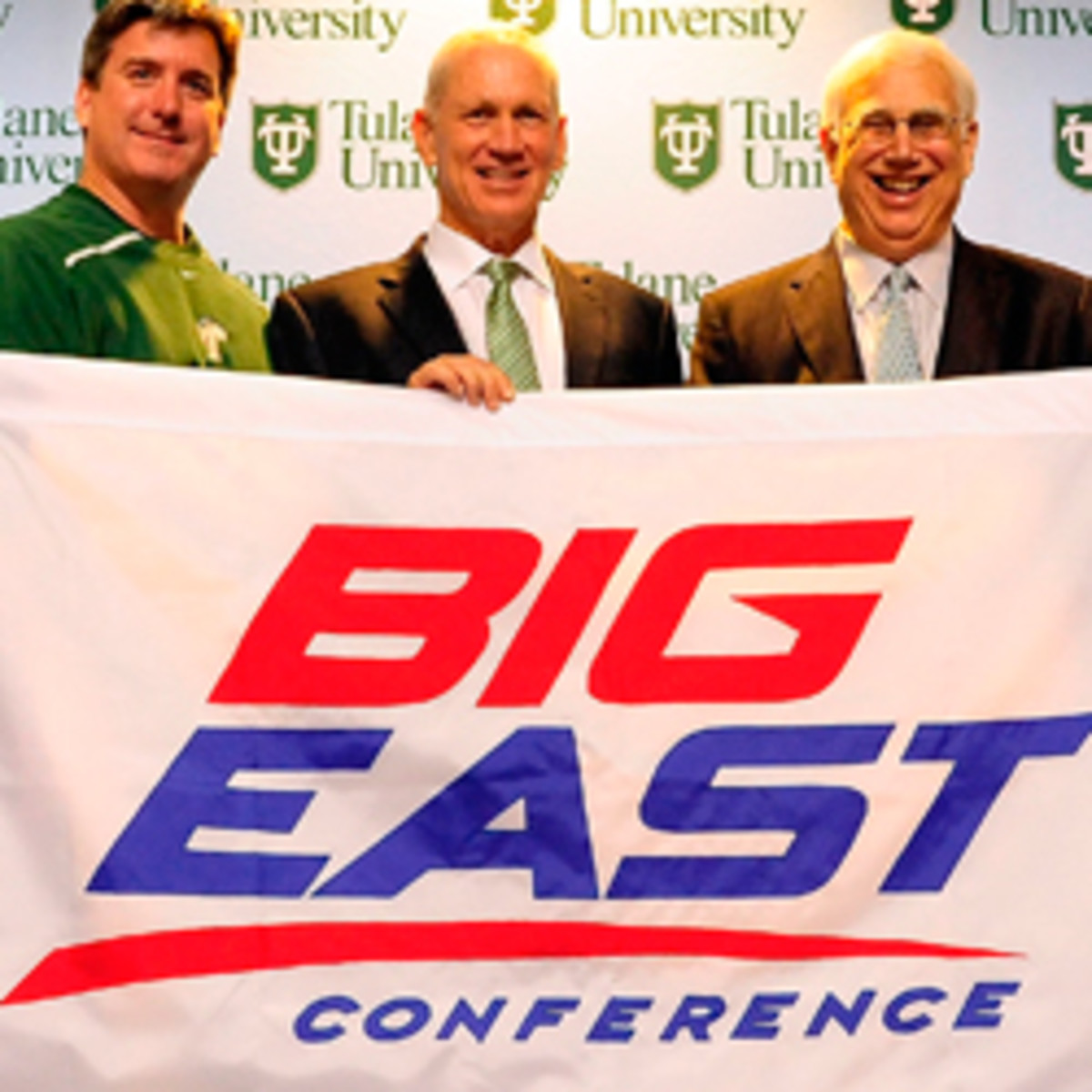 The addition of schools such as Tulane might not save the Big East. (Stacy Revere/Getty Images)