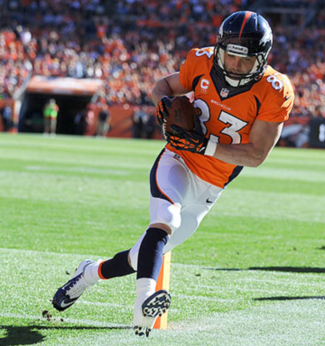 If healthy enough to play, Wes Welker could have a field day against his former team Sunday night. (Tim Rasmussen/Getty Images)