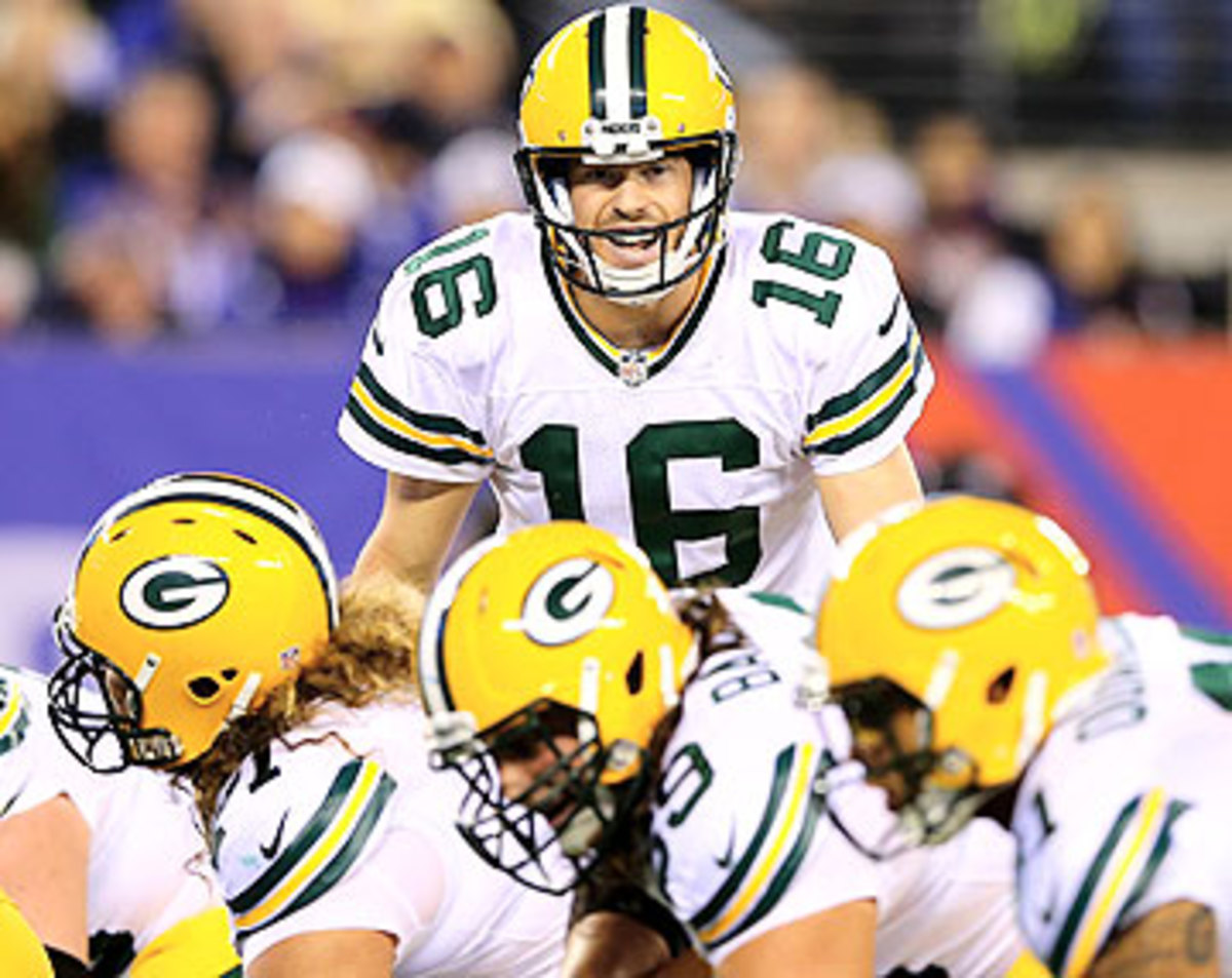 Scott Tolzien has one touchdown and five interceptions in two games this season. (Elsa/Getty Images)