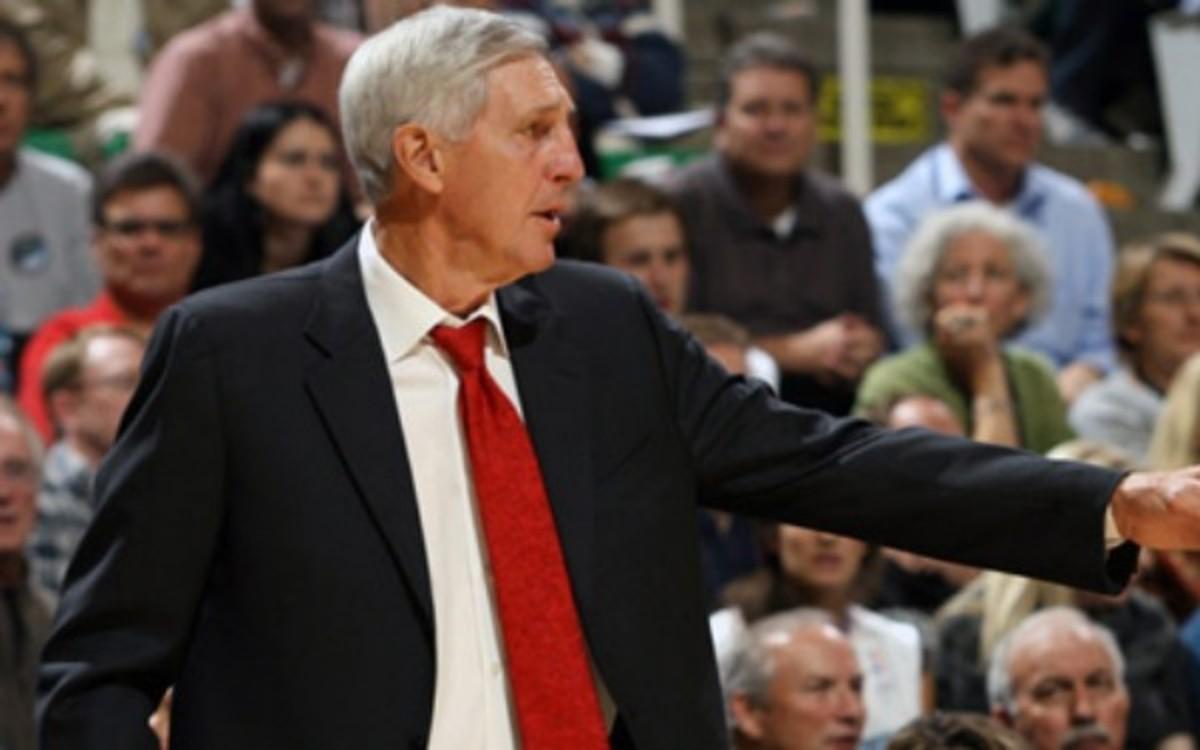 Former Jazz coach Jerry Sloan is now the team's senior adviser.  (Melissa Majchrzak/NBAE/Getty Images)