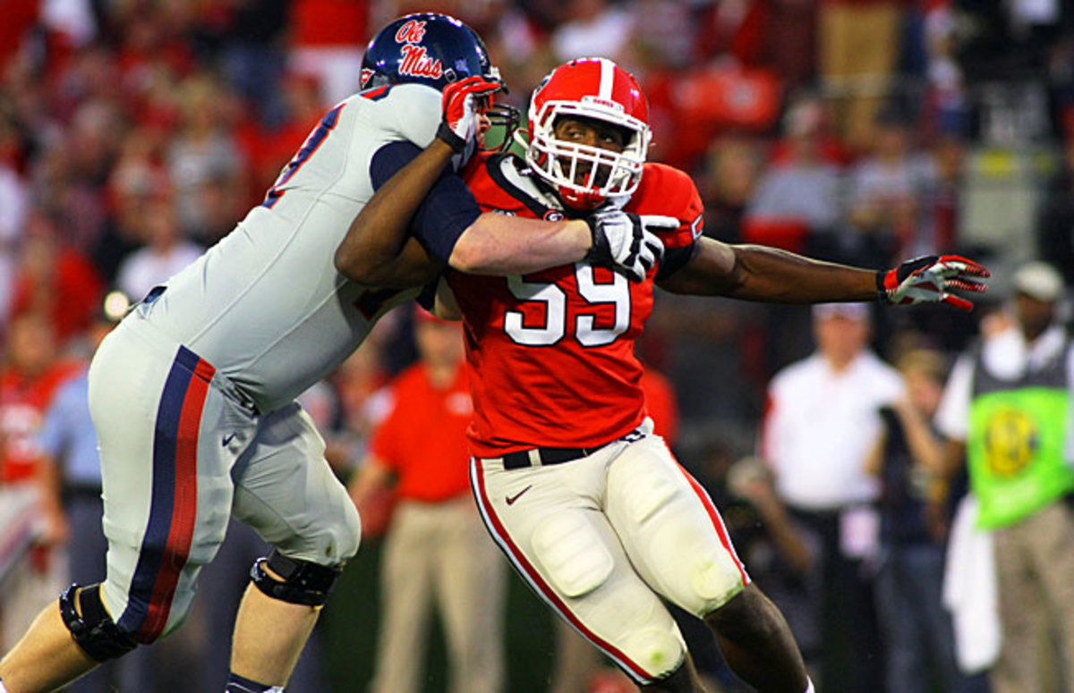 Jordan Jenkins (59) will be asked to replace Jarvis Jones, who led the nation in tackles for loss in 2012.