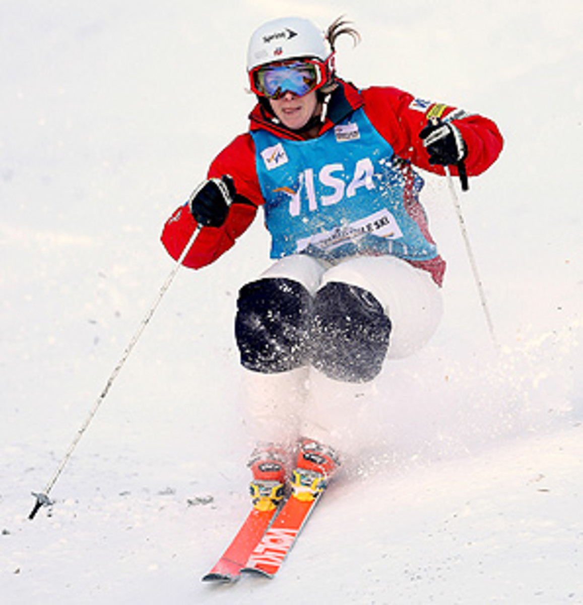U.S.' Hannah Kearney currently leads the World Cup standings with 445 points.