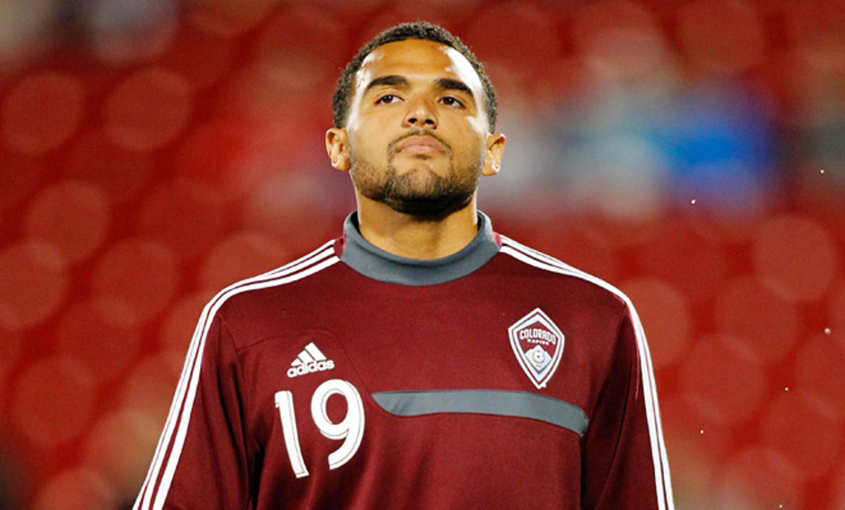 Andre Akpan has only appeared once as a late substitute for the Rapids this season.