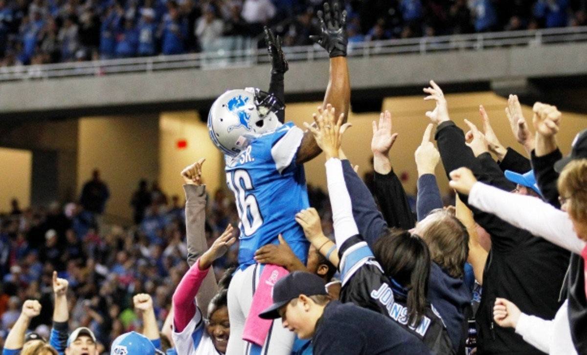 A second-round pick in 2011, Titus Young quickly fell out of favor in Detroit. (Rick Osentoski/AP)