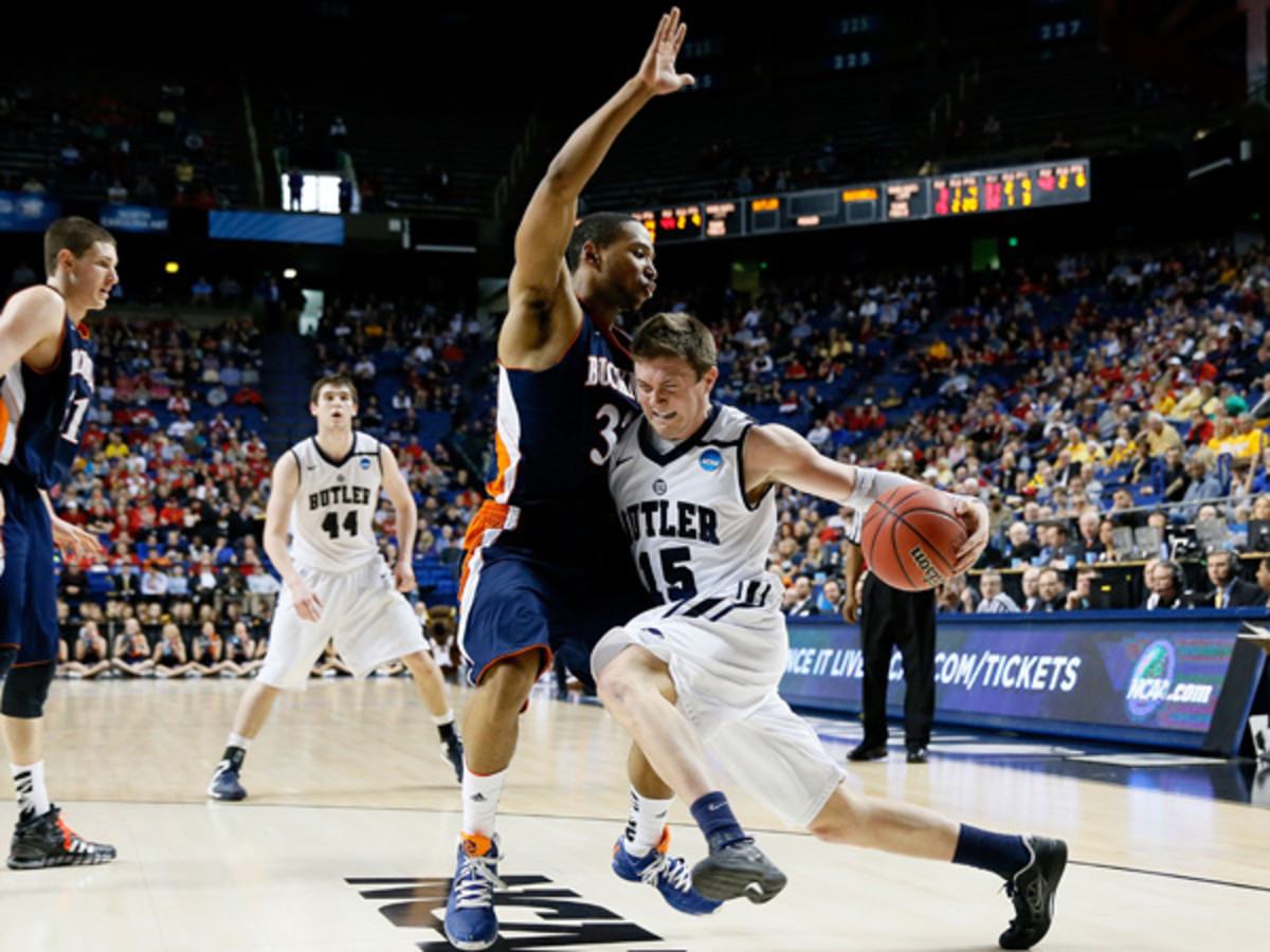 After a close call against Bucknell, Butler will advance to the Round of 32. (Kevin C. Cox/Getty Images)