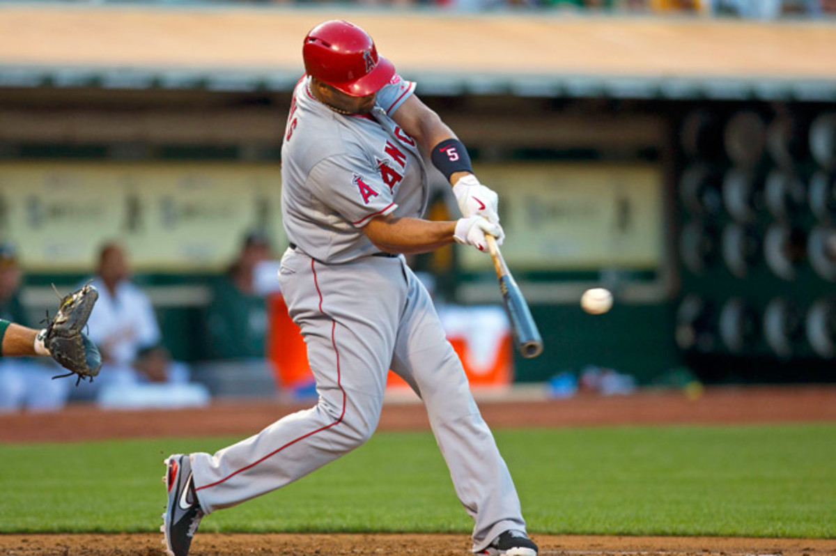 Pujols, who's batting .258 with 17 home runs and 64 RBIs, re-injured his foot on Friday.