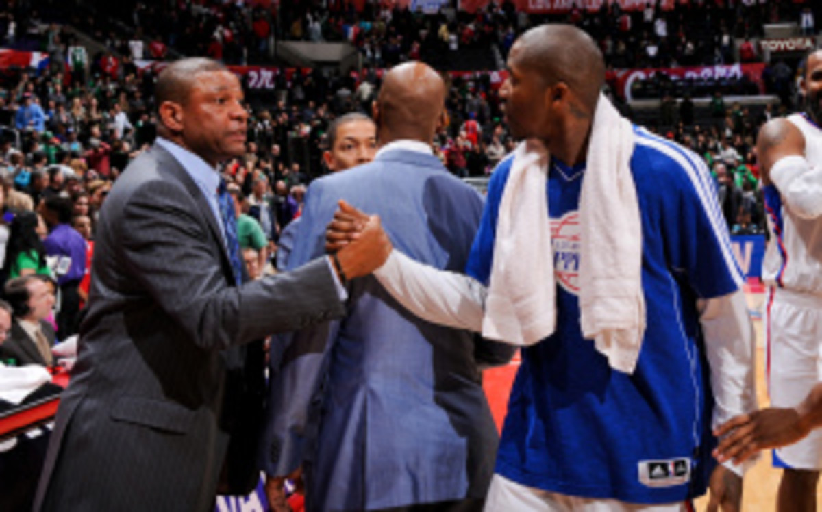 The Clippers have reportedly called off trade talks with the Celtics. (Andrew D. Bernstein/Getty Images)