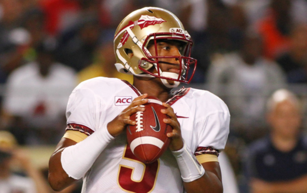 Florida State's Jameis Winston is a leading candidate for this year's Heisman Trophy. (Justin K. Aller/ Getty Images)