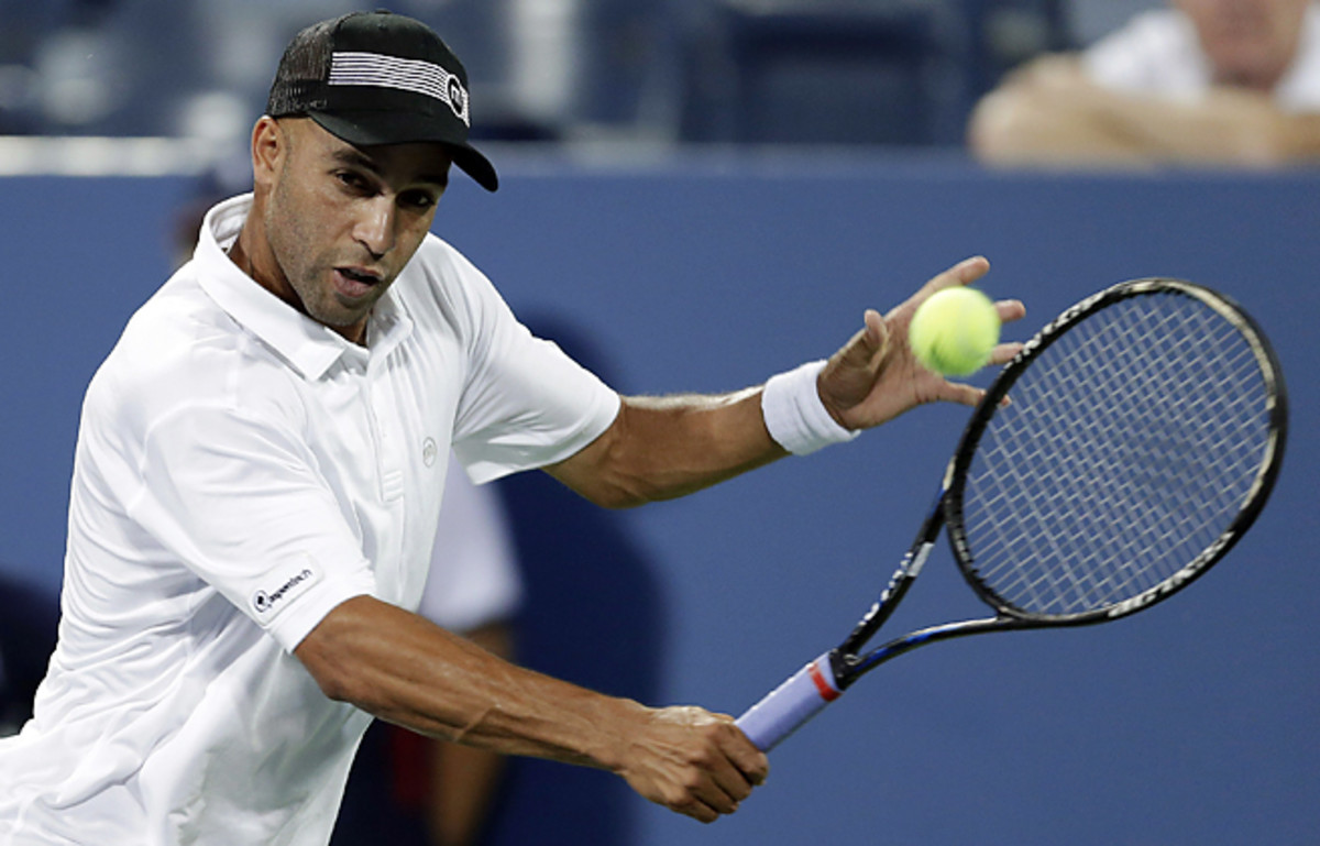 Despite winning the first two sets, James Blake didn't advance to the U.S. Open's second round.