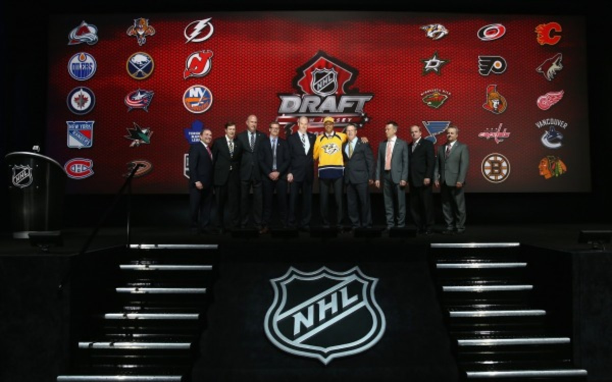 The NHL announced four new division names on Friday. (Bruce Bennett/Getty Images)