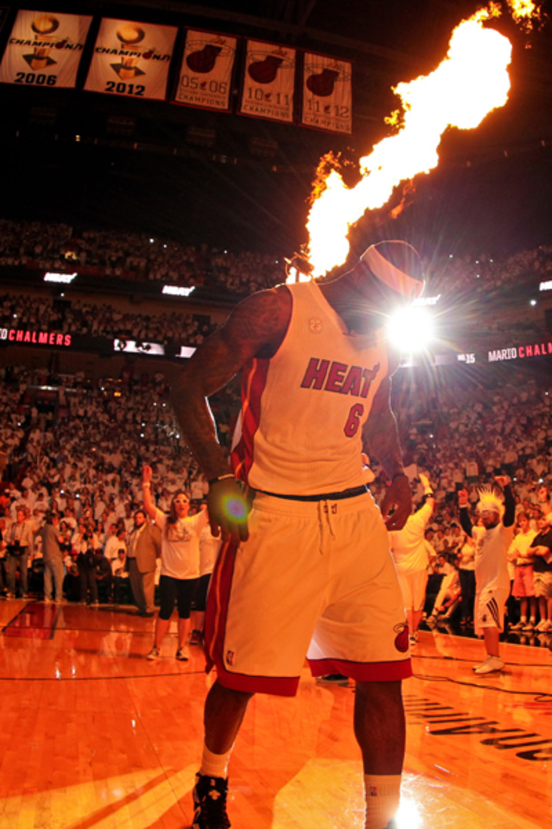 NBA Finals MVP LeBron James said he isn't thinking about the summer of 2014. (Jonathan Daniel/Getty Images)