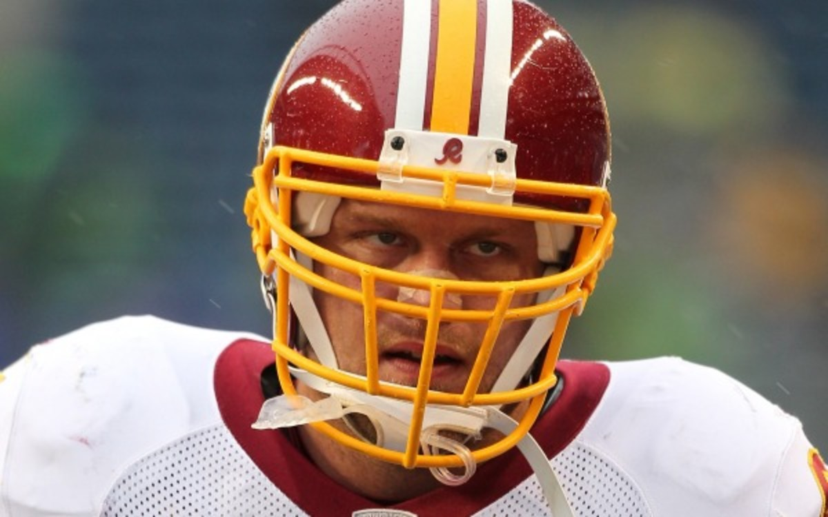 Washington Redskins defensive end Adam Carriker will again have surgery on a torn quad muscle. (Otto Greule Jr./Getty Images)