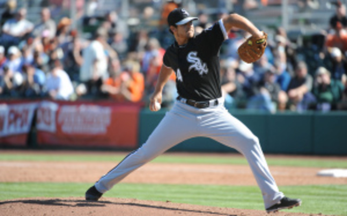 Andre Rienzo is expected to pitch Tuesday night against the Indians,  which would make him the first Brazilian ever to pitch in an MLB game. (Rich Pilling/Getty Images)