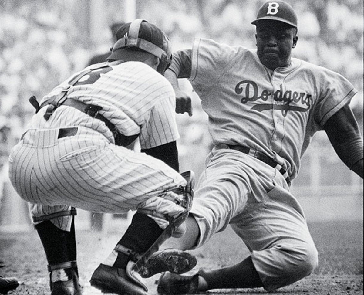 Jackie Robinson's Dodgers and Yogi Berra's Yankees met in the World Series six times from 1947-1056. (Mark Kauffman/SI/Getty Images)