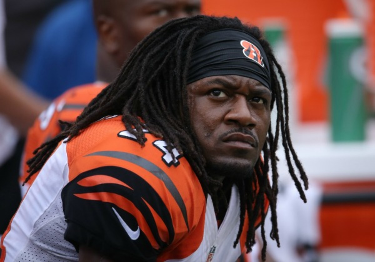 """Adam """"Pacman"""" Jones reportedly threatened a Jets receiver over dirty play. (Tom Szczerbowski/Getty Images)"""