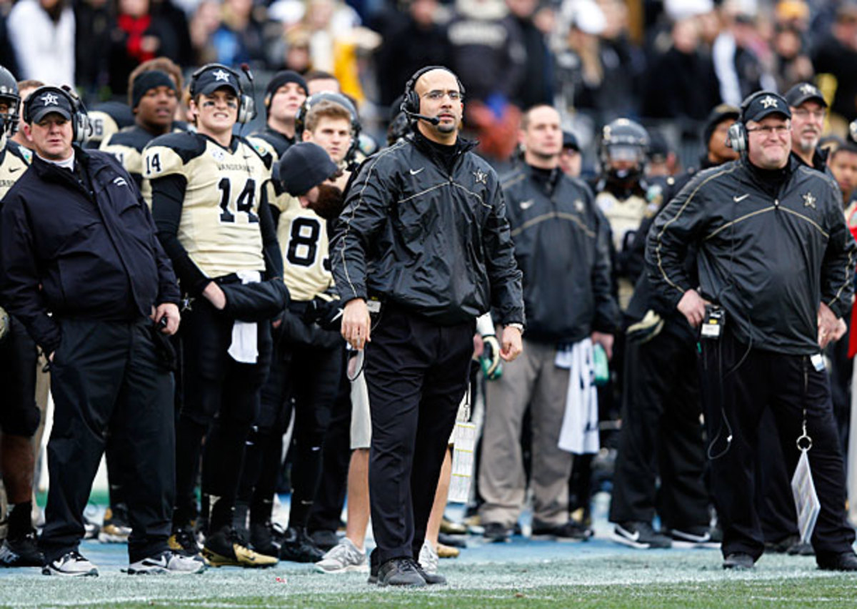 James Franklin and Vandy won their last seven games last season to finish 9-4. (Joe Robbins/Getty Images)