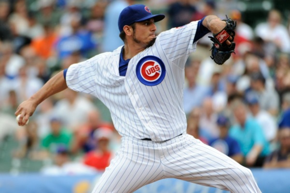 Matt Garza is eligible for free agency at the end of this season. (David Banks/Getty Images)