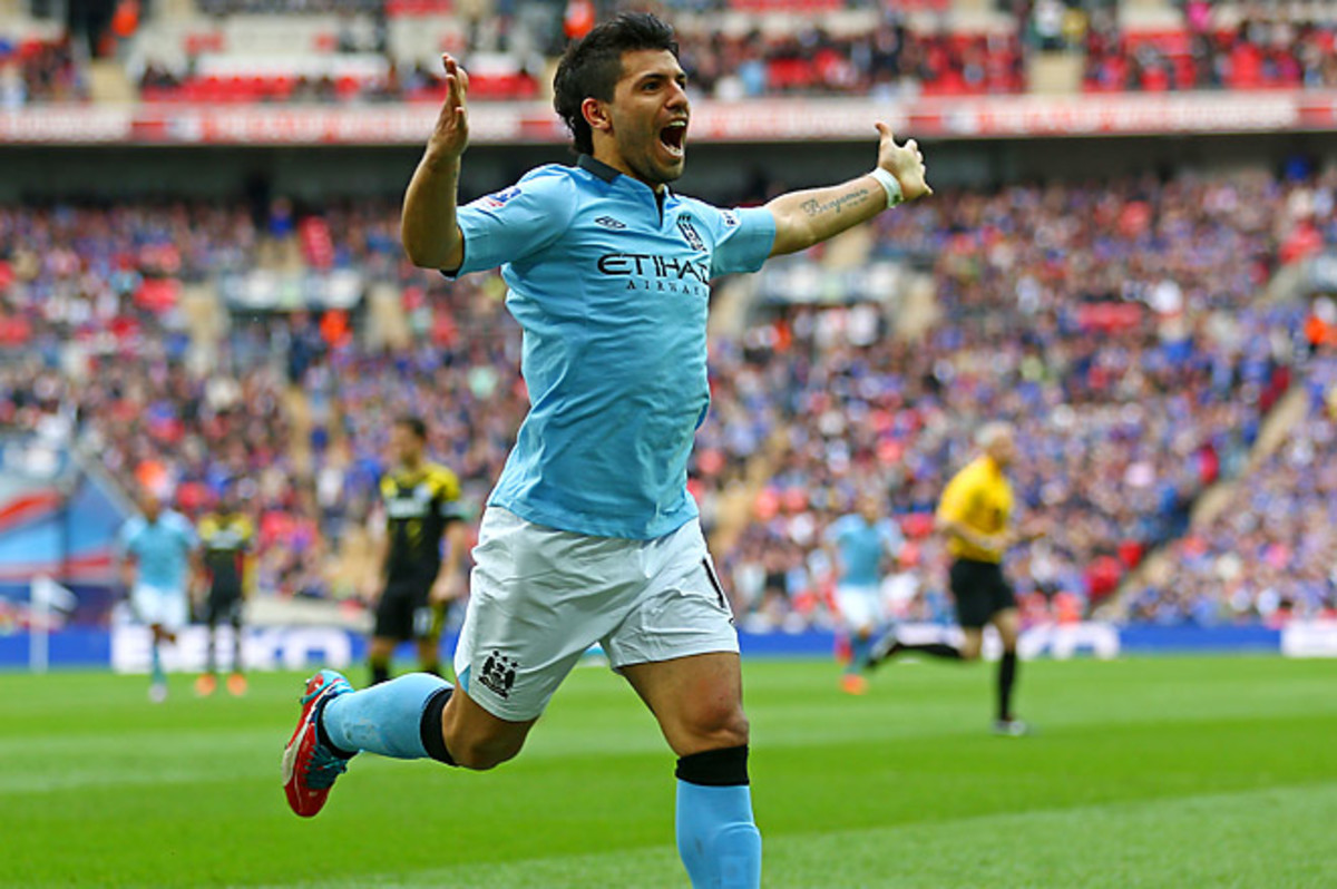 Sergio Aguero scored the deciding second goal just two minutes after halftime, in the 47th minute.