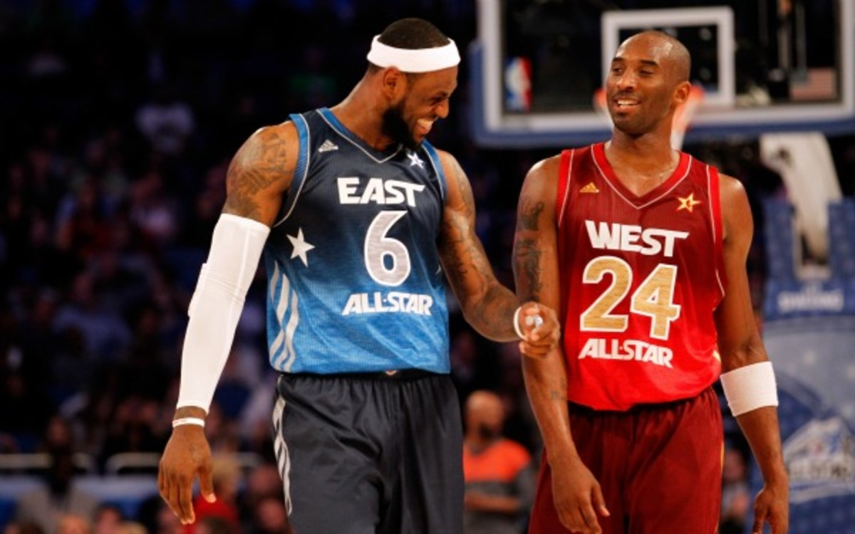 LeBron James and Kobe Bryant headline the All-NBA first team. (Photo by Ronald Martinez/Getty Images)