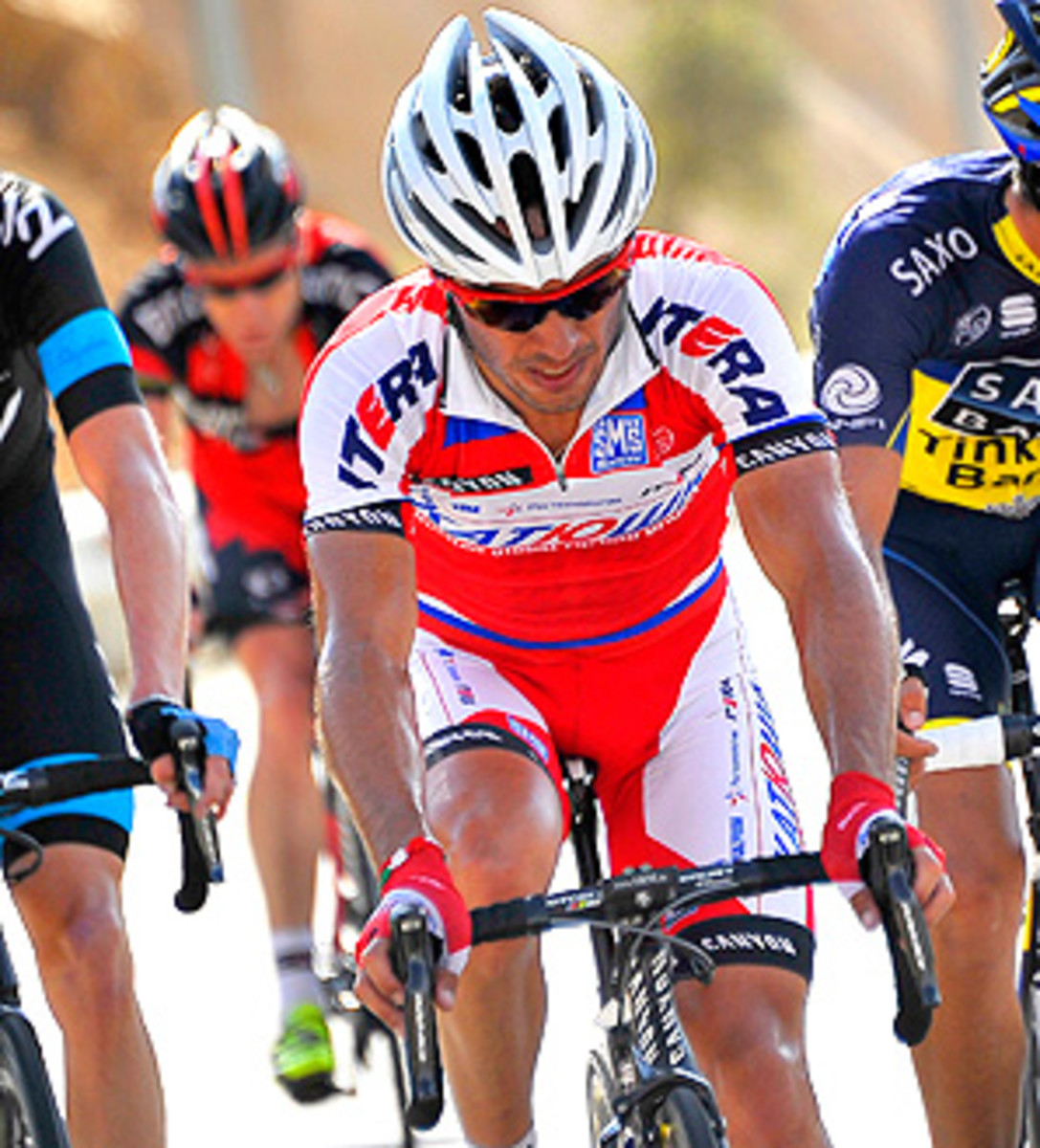 Team Sky's Christopher Froome finished second in the fourth stage of the Tour of Oman.