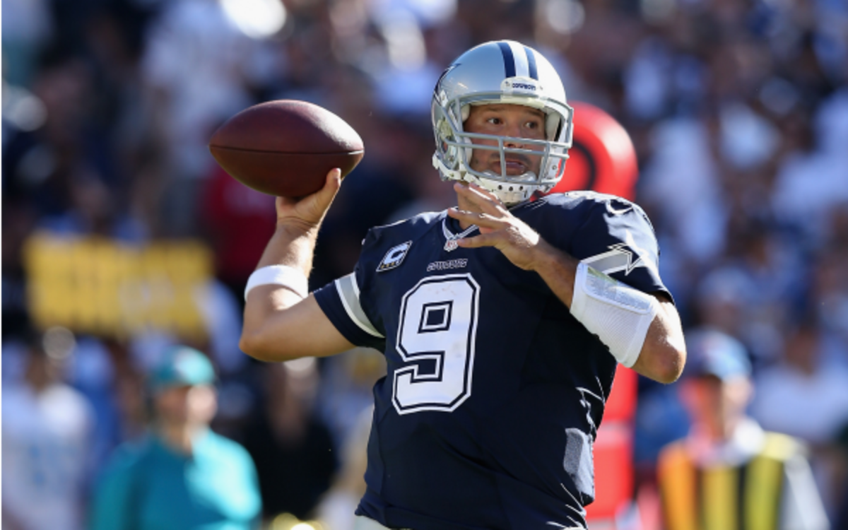 Cowboys quarterback Tony Romo said the Broncos secondary does a lot of holding.  (Jeff Gross/Getty Images)