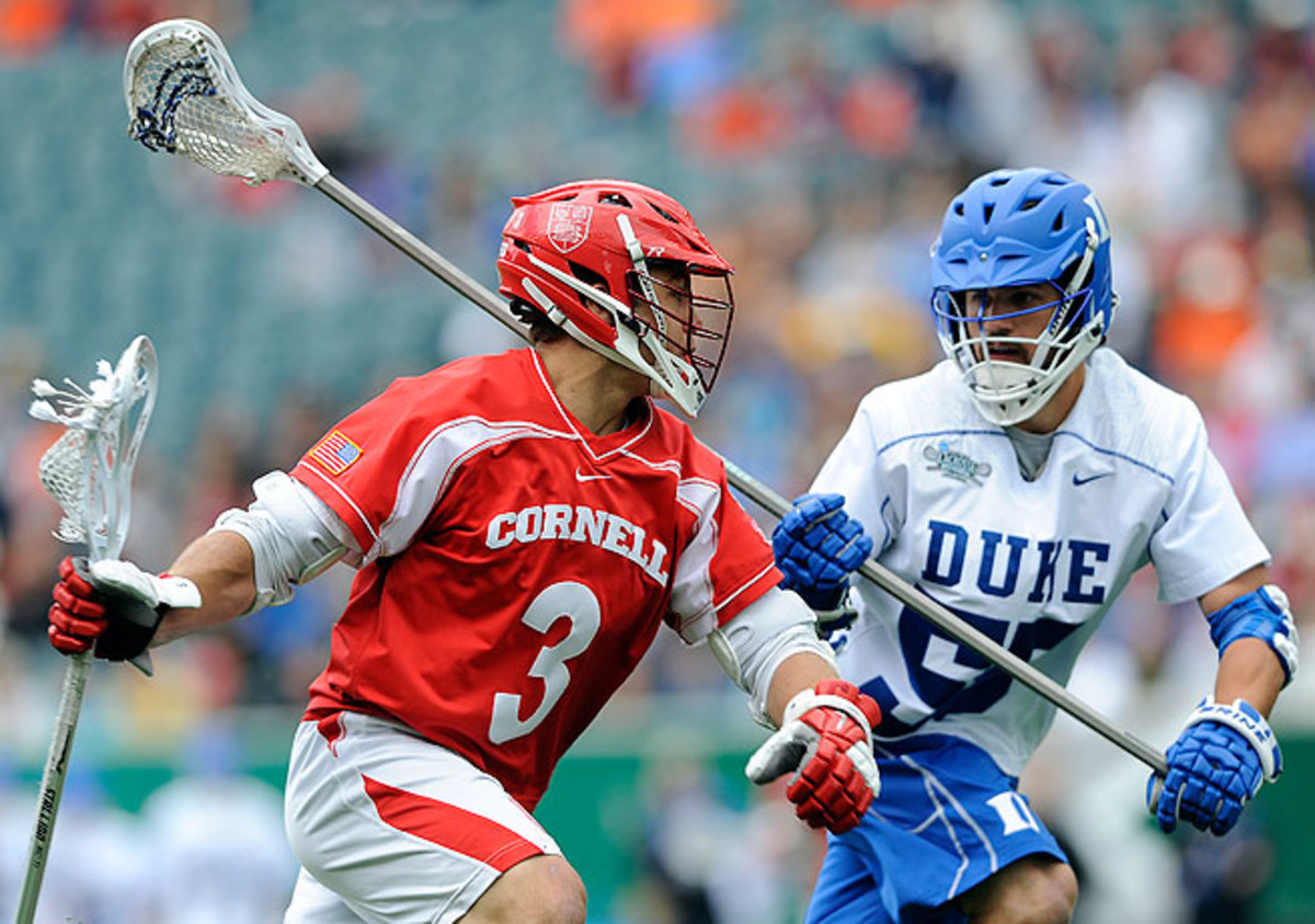 Bill Conners (right) and Duke vanquished Rob Pannell and the Big Red to move on to the NCAA lacrosse finals.
