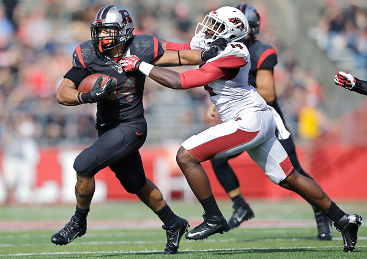 Rutgers running back Paul James is second in the nation in rushing yards despite missing part of Rutgers' win over Arkansas.