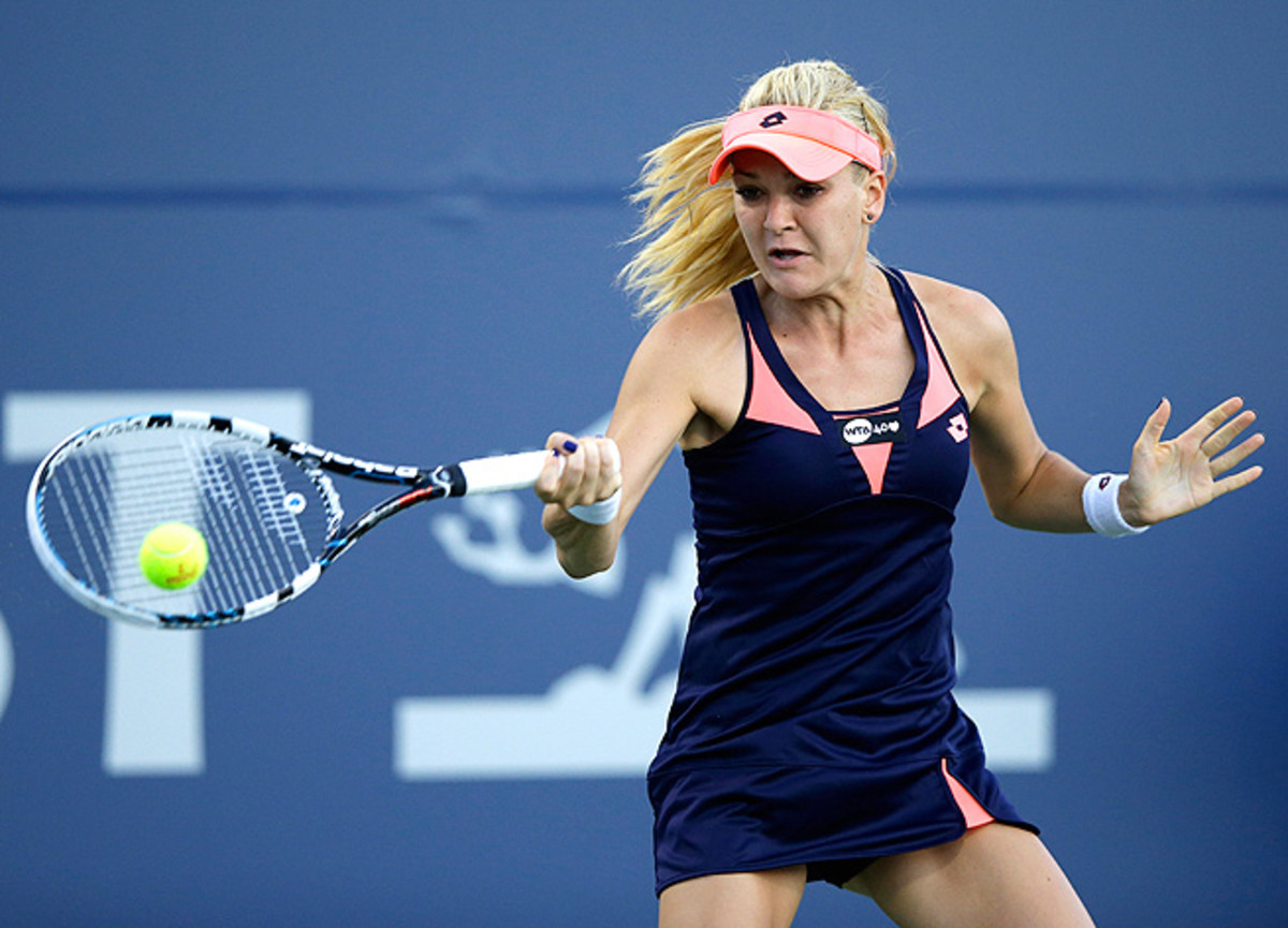 Agnieszka Radwanska offered up a varied array of shots in her tournament opener against Francesca Schiavone.