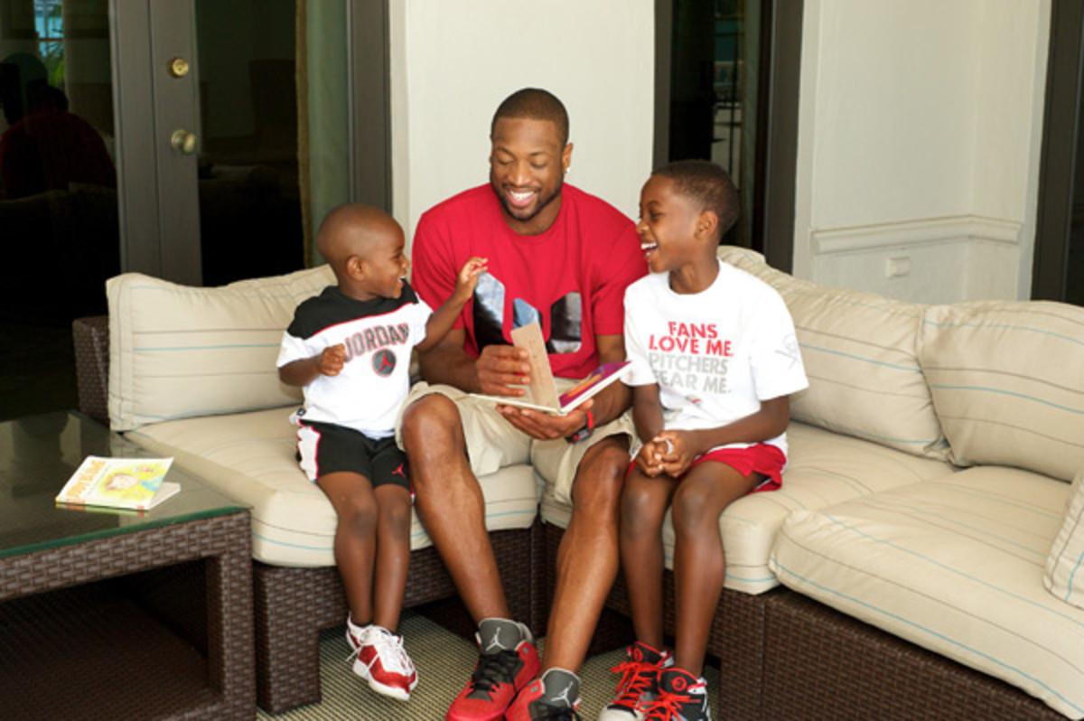 Dwyane, Zion and Zaire Wade :: AP