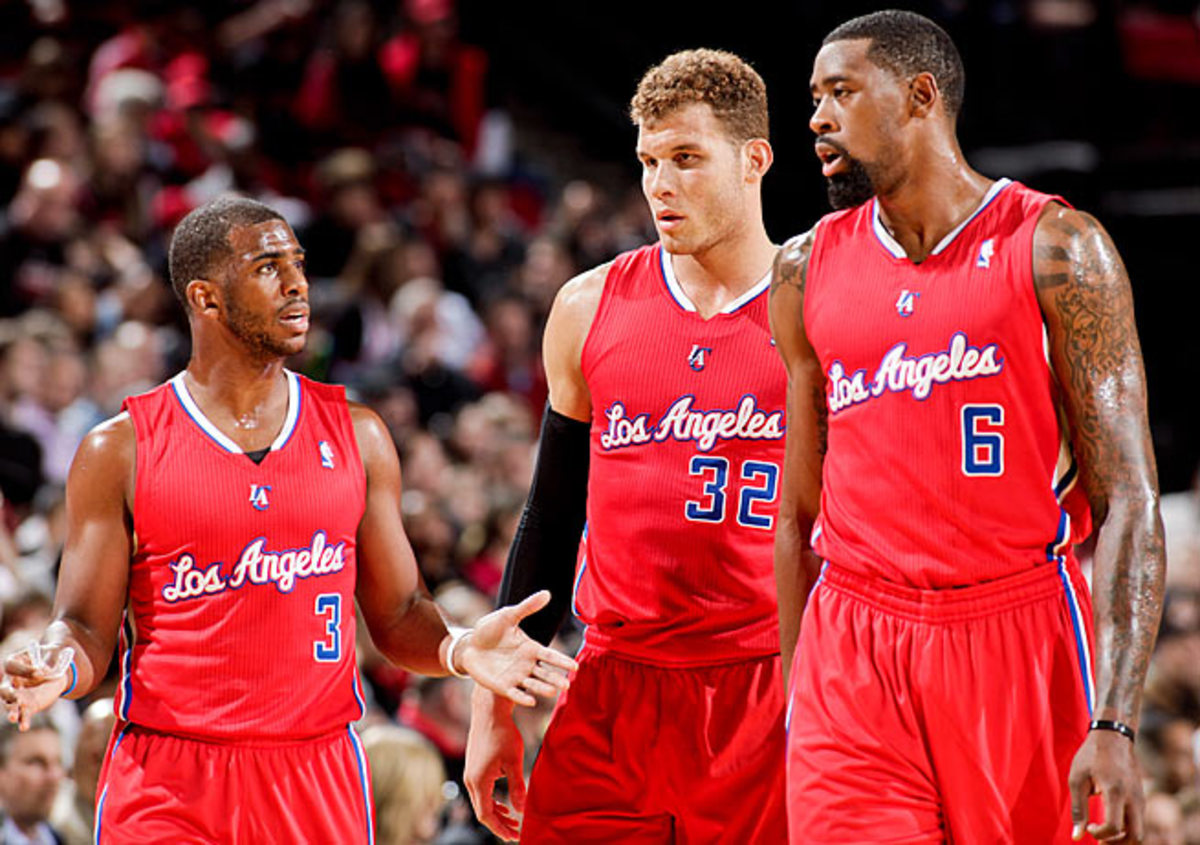 Coach Doc Rivers refers to (from left) Chris Paul, Blake Griffin and DeAndre Jordan as his Big Three.