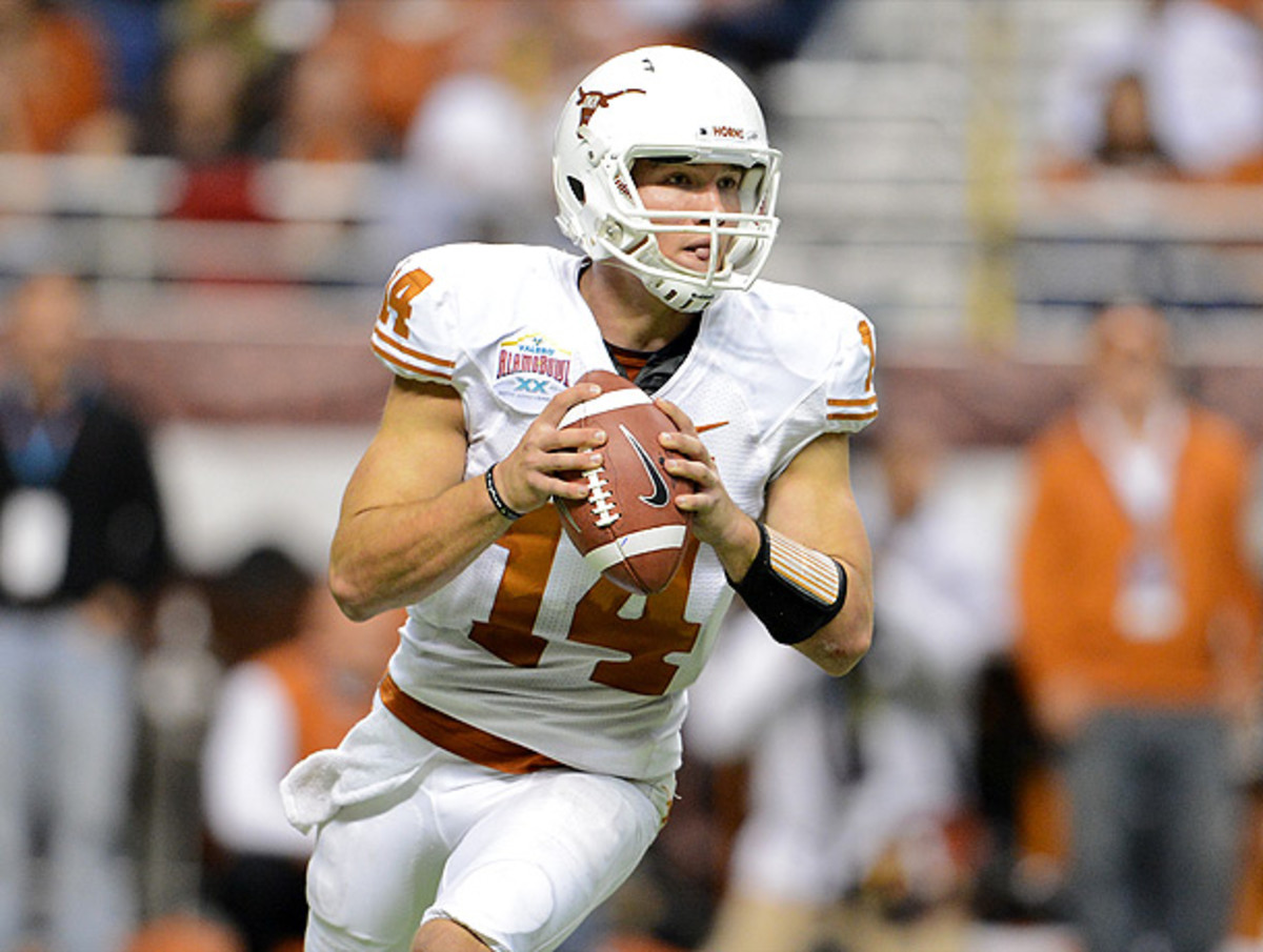 Texas QB David Ash will miss Saturday's game against No. 25 Ole Miss. (George Frey/Getty Images)