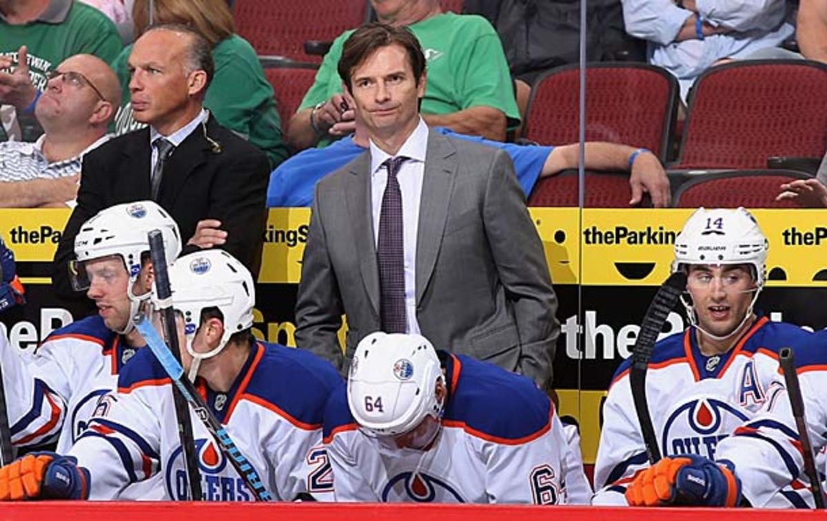 Coach Dallas Eakins and his disappointing Edmonton Oilers