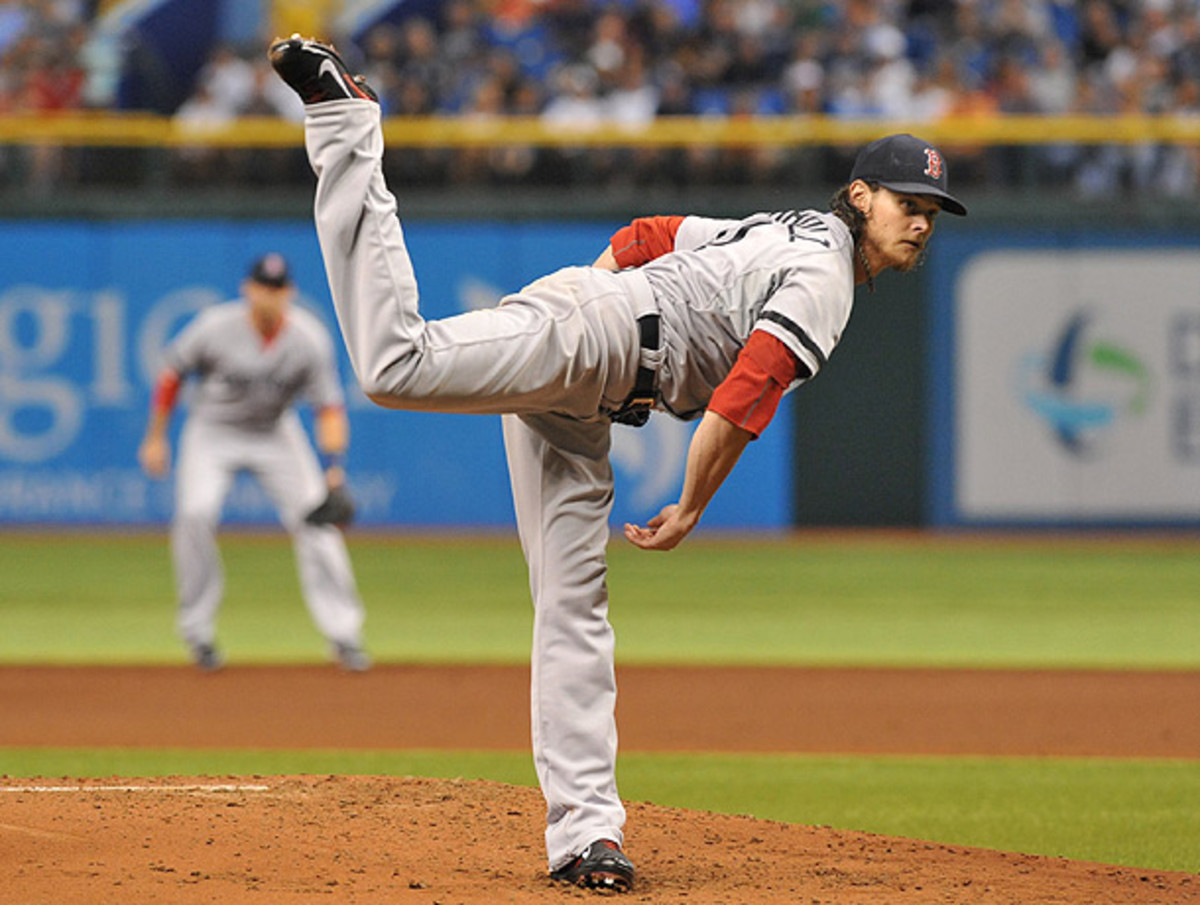 Clay Buchholz hasn't pitched in a week, which could work to his advantage in a crucial Game 4. (Al Messerschmidt/Getty Images)