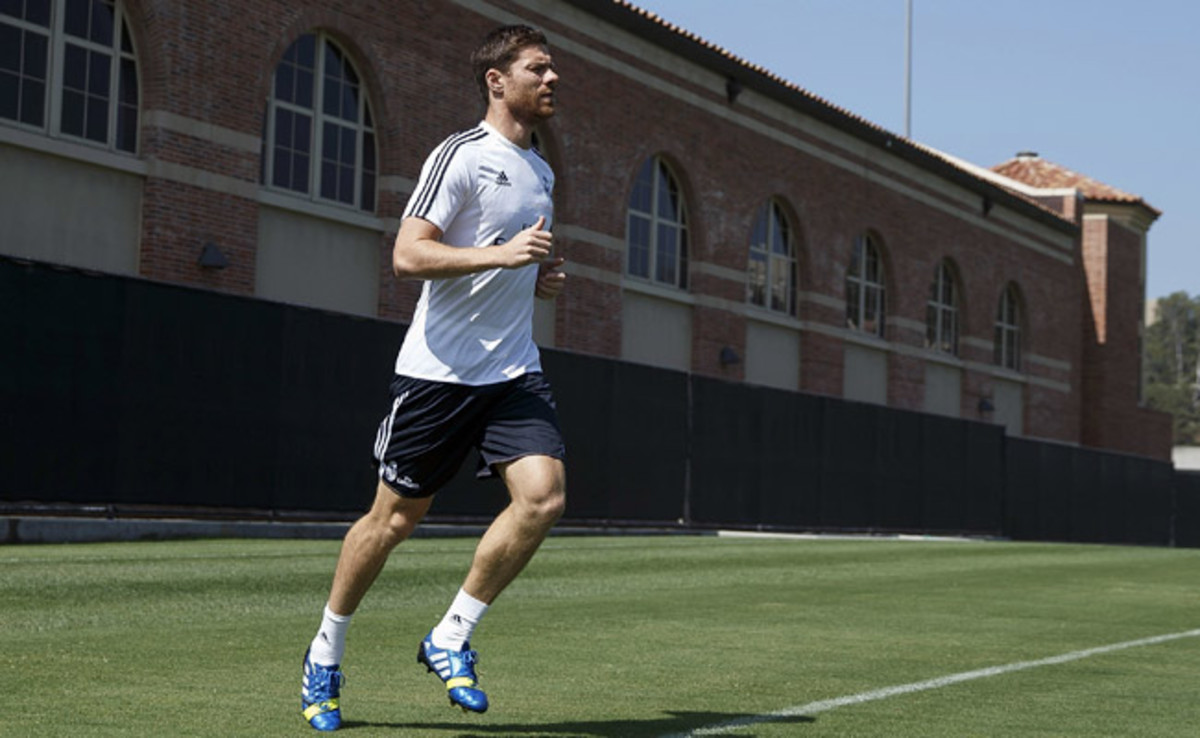 Xabi Alonso had been recovering from back surgery during the offseason.