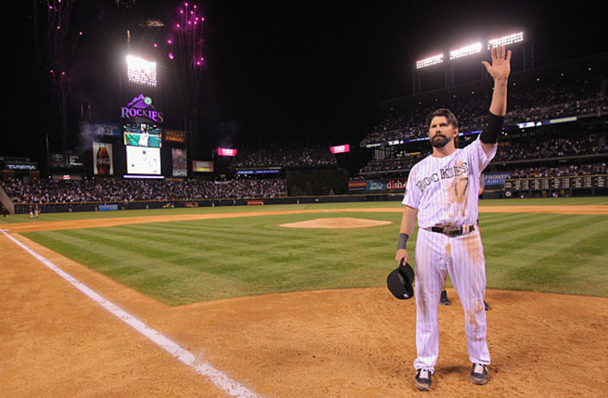 Todd Helton spent his entire 17-year career with Colorado before retiring after this past season.
